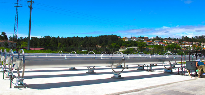 Trough type solar collector